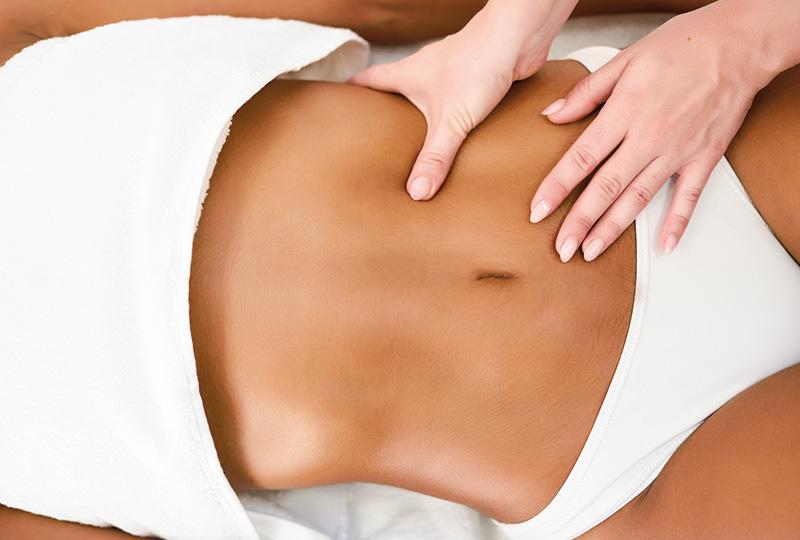 Massage sur le ventre